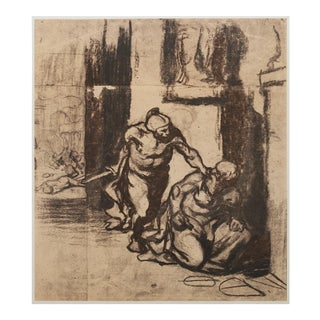 1959 American Classical Lithograph, Archimedes by Honoré Daumier For Sale