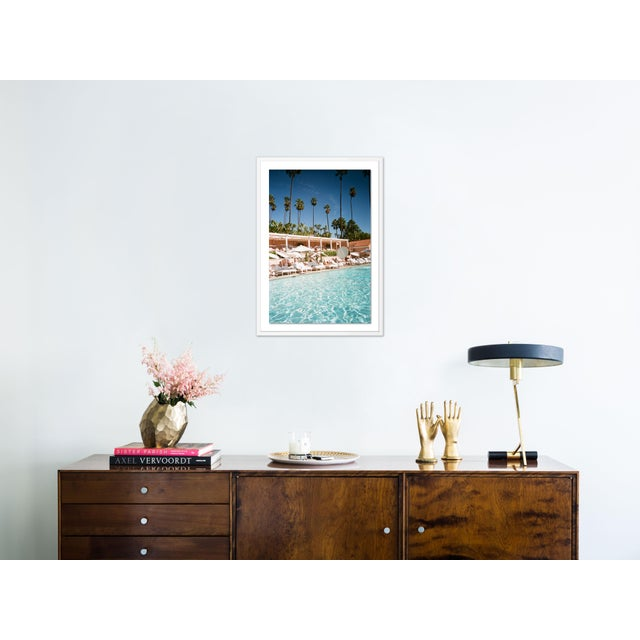 Contemporary Beverly Hills by Natalie Obradovich in White Framed Paper, Large Art Print For Sale - Image 3 of 4