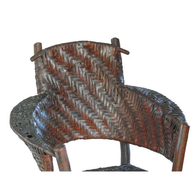 Wood Old Hickory Armchair For Sale - Image 7 of 10