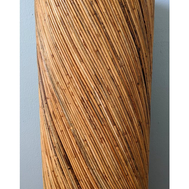 Mid 20th Century Large Mid Century Palm Beach Pencil Bamboo Column Plant Stand For Sale - Image 5 of 9
