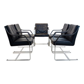 Walter Knoll Leather Art Collection Chairs by Rudolf B. Glatzel For Sale