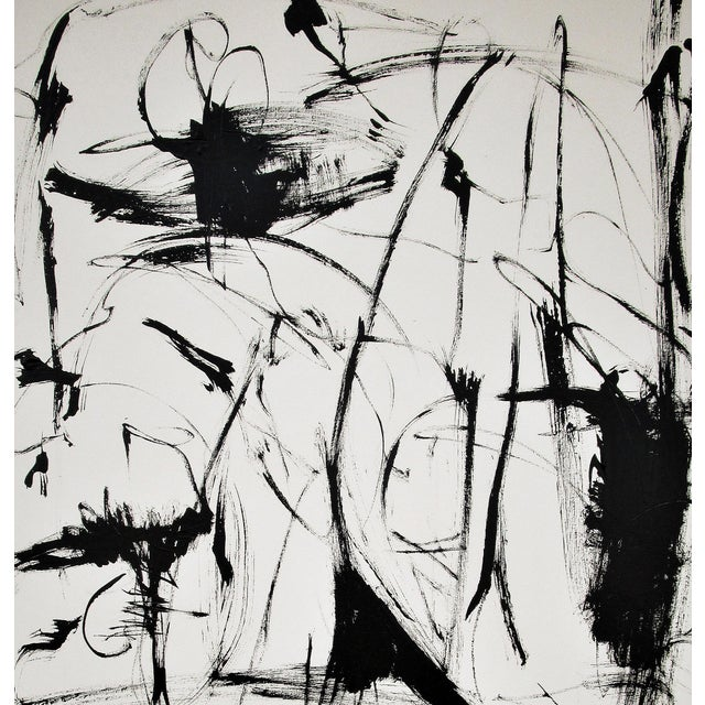 "Abstract ""Scratch, Push and Pull"" by Kenneth Joaquin (B. 1948) For Sale - Image 3 of 5"