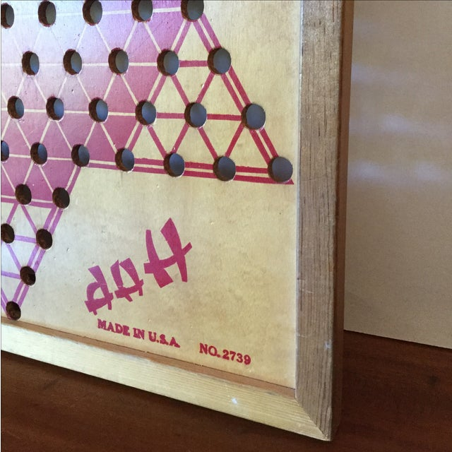 Vintage Wooden Chinese Checkers Board - Image 5 of 11