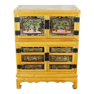 Chinese Chest With Antique Lacquered Panels