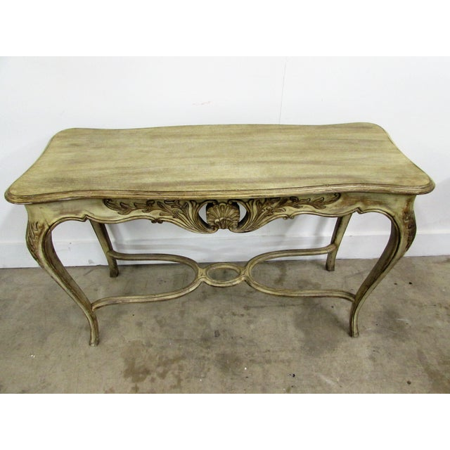 Louis XV Style Carved Wood Console Table For Sale - Image 5 of 7