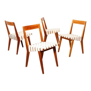 Jens Risom Dining Chairs for Knoll For Sale