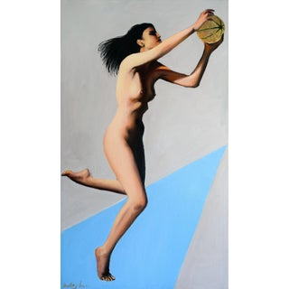 """""""Masha With Mushmelon"""" Oil on Canvas Painting"""