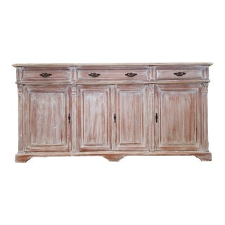 Vintage Style Whitewashed Cabinet For Sale