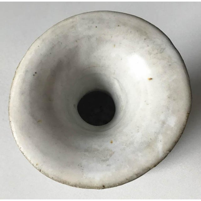 Mid 20th Century Vintage Hand Thrown Pottery Vase For Sale - Image 5 of 9