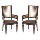 Image of Late 20th Century Rose Tarlow Armchairs - a Pair For Sale