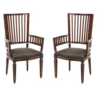 Late 20th Century Rose Tarlow Armchairs - a Pair