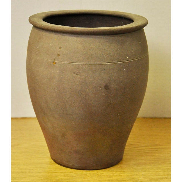 French Vintage French Stoneware Pot For Sale - Image 3 of 7