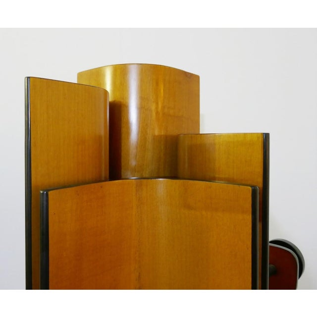 Mid 20th Century Coat Rack in Multiplex Curved Wood by Campo & Graffi For Sale - Image 5 of 10