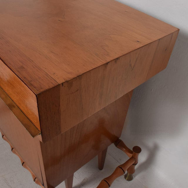 Midcentury Mexican Modernist Floating Bamboo Credenza, Frank Kyle, 1960s For Sale - Image 10 of 12