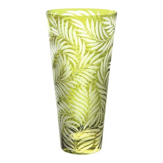 Willow Medium Vase, Olive For Sale