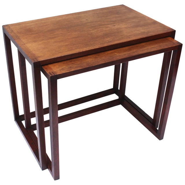 Set of Two Swedish Nesting Tables by Karl Erik Ekselius For Sale - Image 9 of 9