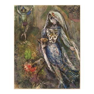 "1947 M. Chagall Original Period ""La Queue Des Sirènes"" Lithograph, C. O. A. For Sale"