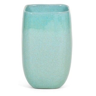 Large Turquoise Glidden Ceramic Vase For Sale