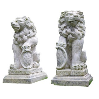 Carved Stone Lions For Sale