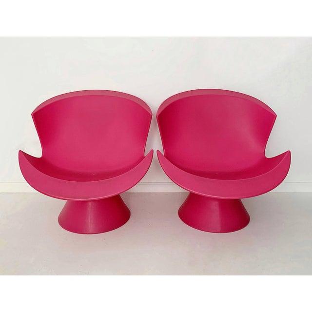 Modern Karim Rashid Pink Kite Lounge Chairs- A Pair For Sale - Image 9 of 9