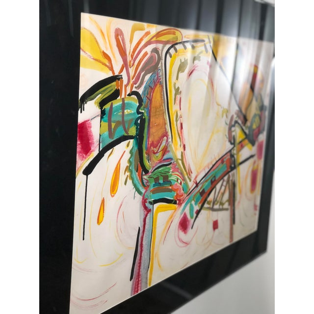 C1970s Bold and Colorful Abstract Painting For Sale - Image 12 of 12