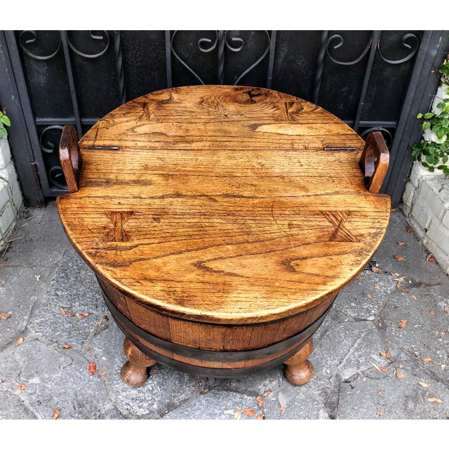 American Antique American Wine Cellarette / End Table W Bow-Tie Inlay For Sale - Image 3 of 6