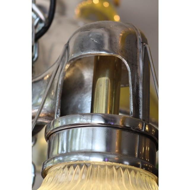 Vintage Holophane Industrial Double Pendant Lights For Sale In Sacramento - Image 6 of 9