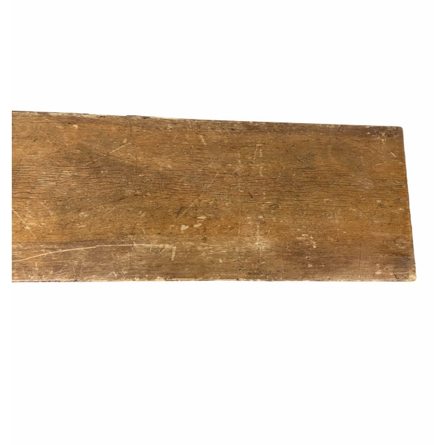 Early 20th Century Vintage Country Farmhouse Wooden Bench For Sale - Image 4 of 10
