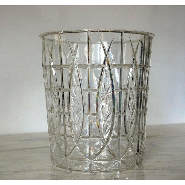 Hollywood Regency Gold Waste Basket For Sale - Image 4 of 6