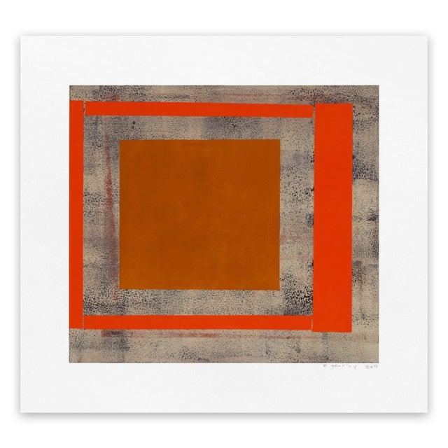 "Elizabeth Gourlay Elizabeth Gourlay ""Ochre red ash"", Print For Sale - Image 4 of 4"
