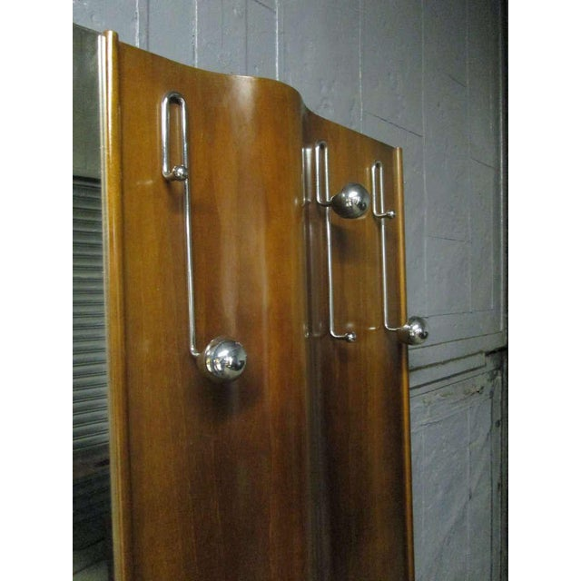 Italian Wall-Mounted Coat Rack With Mirror For Sale - Image 4 of 7