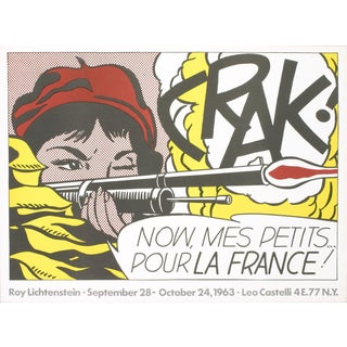 "1963 Roy Lichtenstein ""Crak!"" Poster For Sale"