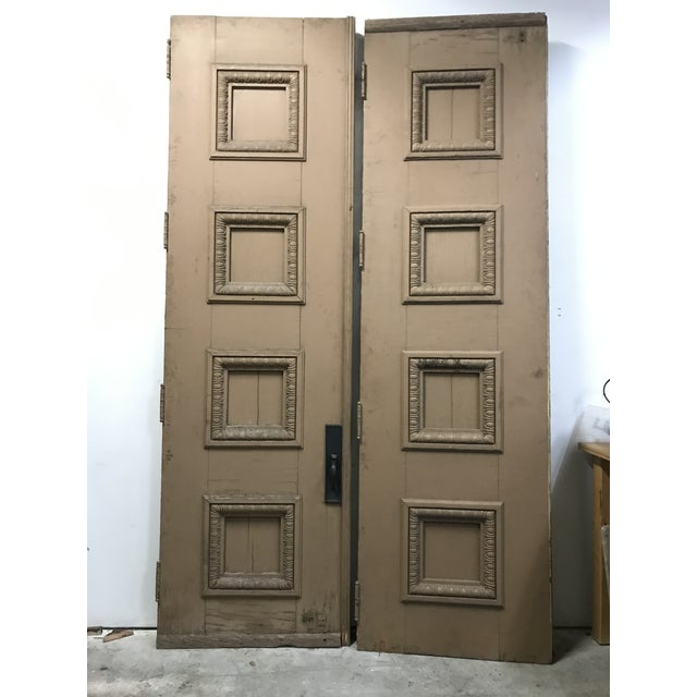 1880s Monumental Italian Renaissance Architectural Salvage Church Doors - a Pair For Sale - Image 13 of 13