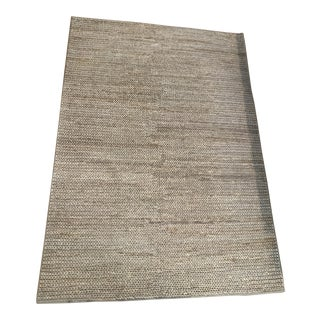 Modern Hand Braided Jute Rug - 5′ × 7′ For Sale
