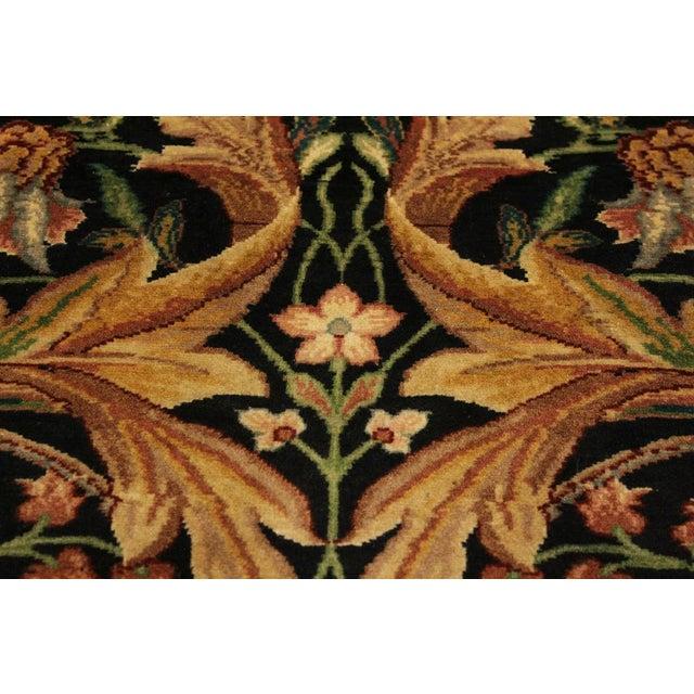 Art Nouveau International Pak-Persian Latanya Black/Ivory Wool Rug - 4'1 X 5'1 For Sale - Image 4 of 8