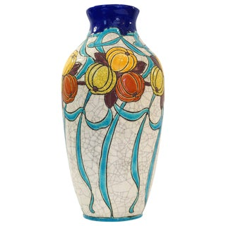 Charles Catteau Vase for Boch Freres La Louviere For Sale