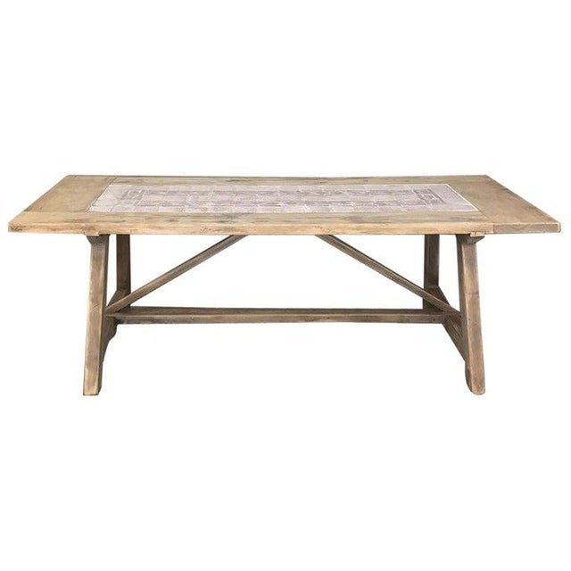 19th Century Spanish Table With Marble Tiles For Sale - Image 12 of 12