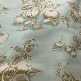 Tyler Hall French Market Exclusive Pattwell Blue Fruits Fabric Preview