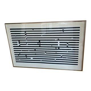 Yaacov Agam Rare Original Color Silkscreen Espace Op Artwork For Sale