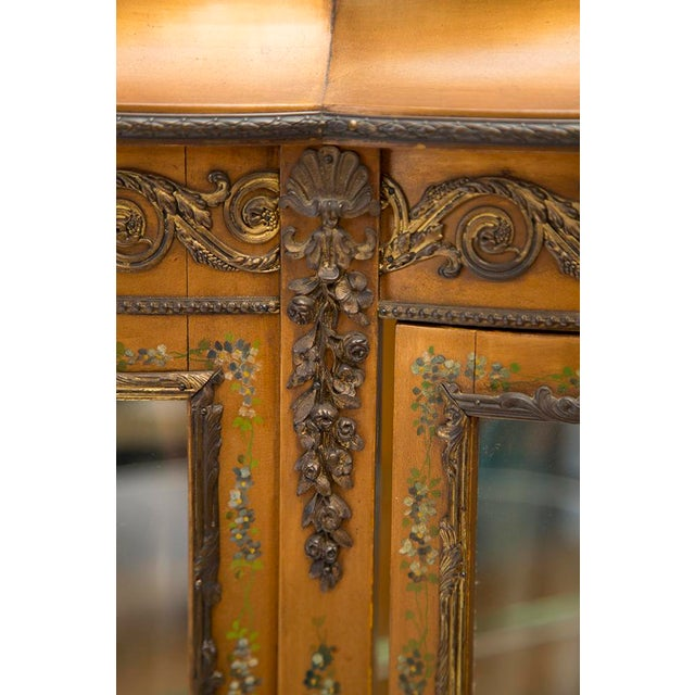 Glass Gilded Vitrine Curio Cabinet For Sale - Image 7 of 10
