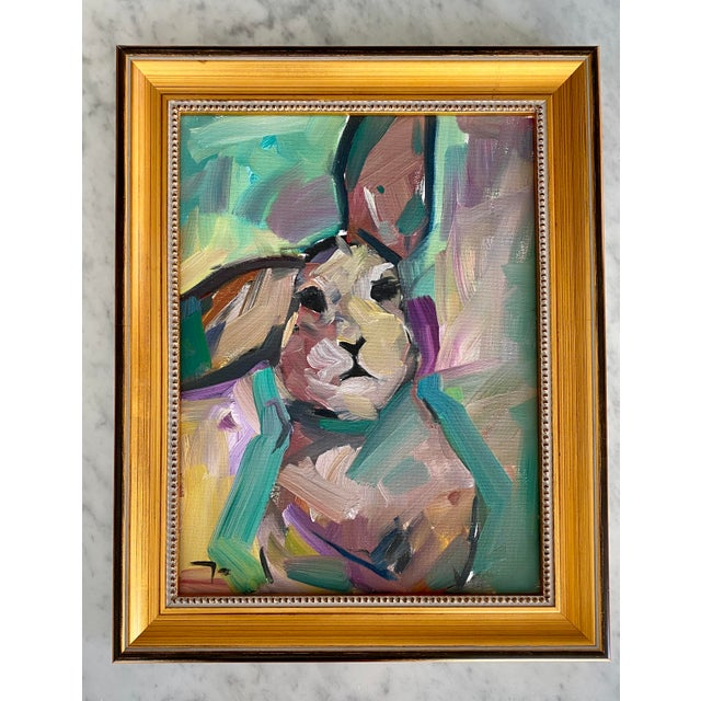 "Original Impressionistic Oil on Canvas of ""The Bunny"" by Jose Trujillo For Sale - Image 12 of 12"