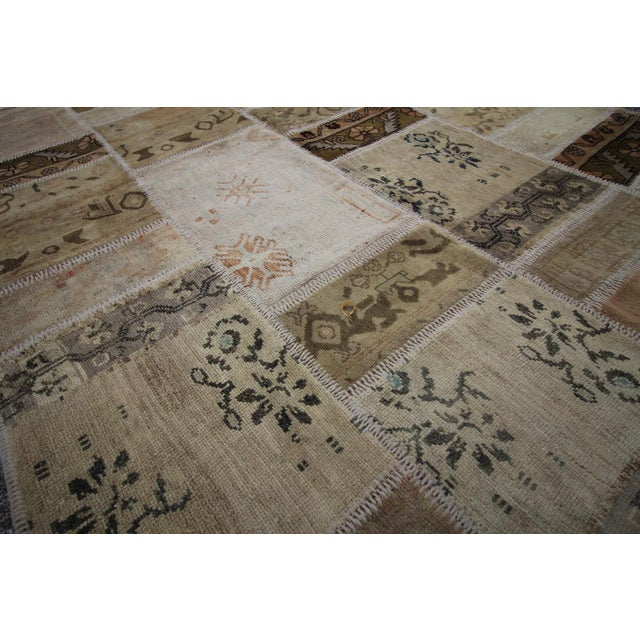 Vintage Turkish Patchwork Oushak Rug - 5′10″ × 8′5″ - Image 5 of 6
