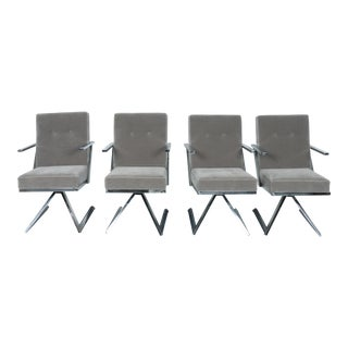 Milo Baughman Style Z set of 4 Chairs