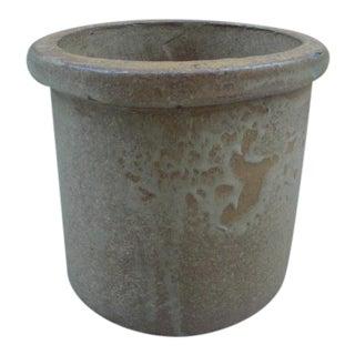 Mid Century Modern Ceramic Crock Planter With Drip Glaze For Sale