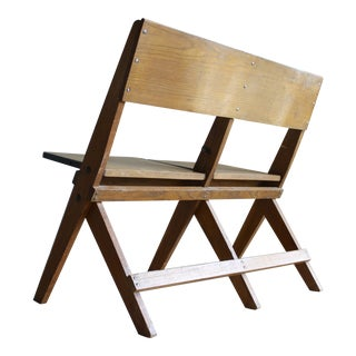 Primitive Shaker Style Scissor-Leg Folding 2-Seat Chair
