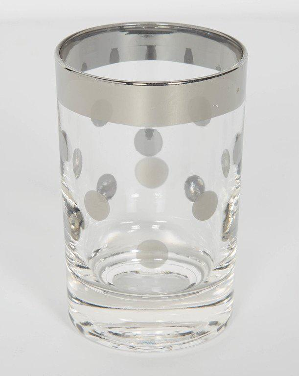 Set Of Six Dorothy Thorpe Barware Glasses With Polka Dot Design   Image 4  Of 5
