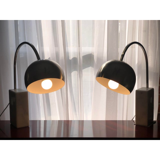 Italian Italian Mid Century Modern Arco Desk Lamps - a Pair For Sale - Image 3 of 12