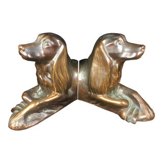 1950s Vintage Saxton of California Copper Irish Setter Bookends - A Pair For Sale