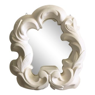 Vintage Hollywood Regency Plaster Mirror For Sale