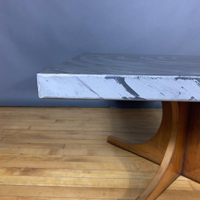 Metal Heinz Lilienthal (Attr.) Aluminium Relief Coffee Table, 1970s For Sale - Image 7 of 9